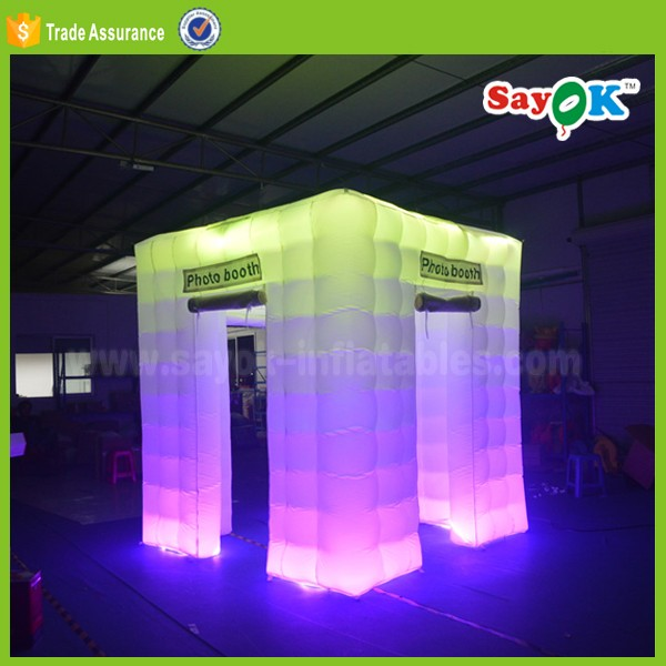 wedding decoration digital inflatable wedding photo booth tent shell manufacturer