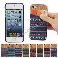 High quality Specail Wooden patter Hard phone Case for iPhone 5/5s with card slots backside , for Apple iPhone5 back cover