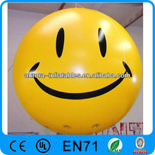 smiled round ad inflatable helium balloon