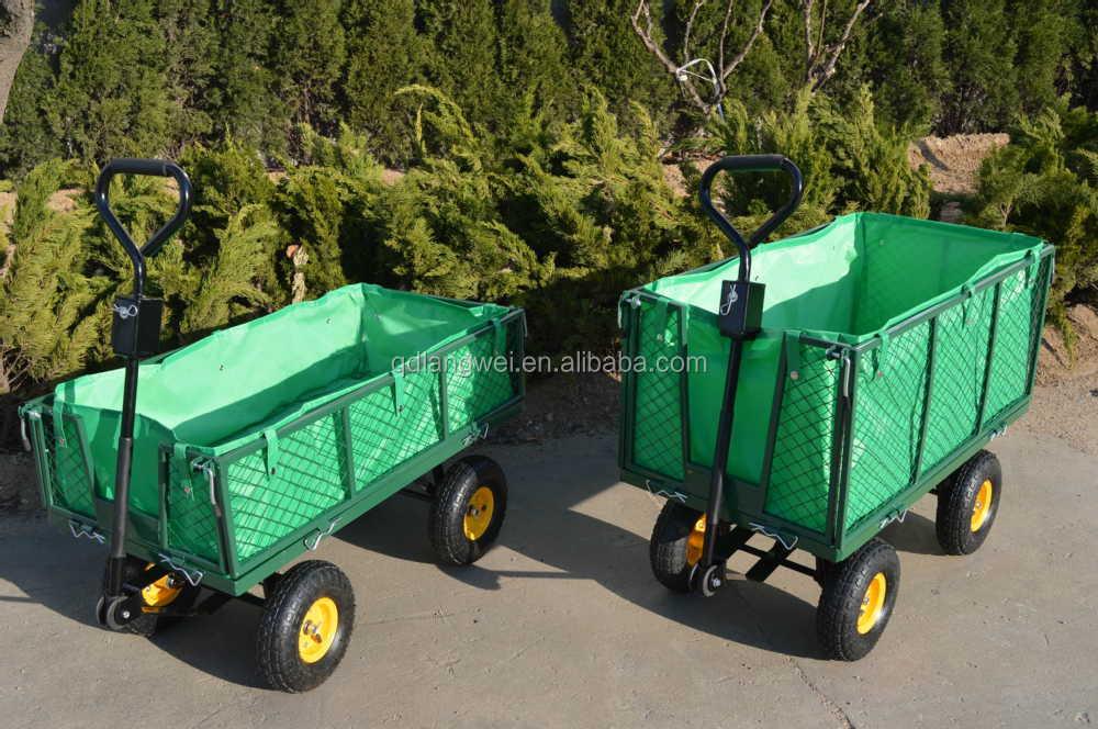 Heavy Duty Steel Rolling Utility Wagon Yard Garden Dump