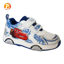 Fashionable children boys cartoon sneakers customized light up led shoes kids