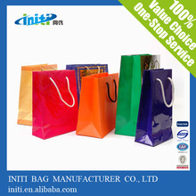 Top Selling Recycled Feature Large Capacity Colorful Paper Packaging Bag