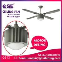Home decoration strong wind ceiling fan with LED light