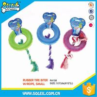 Competitive Factory Price Rubber Pet Products Dog Toys With Rope
