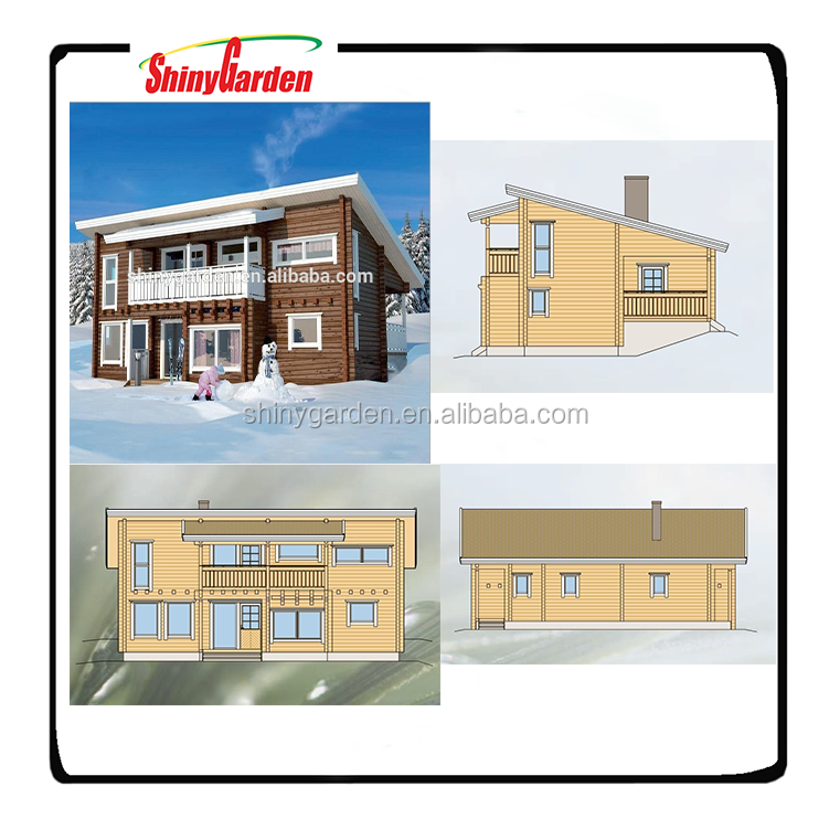 Shinygarden Snowfield holiday mobile wooden villa