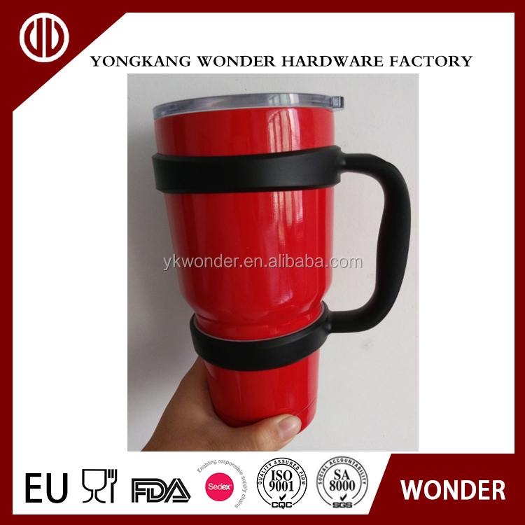 30OZ double wall stainless steel keep hot and cold tumbler cup with handle