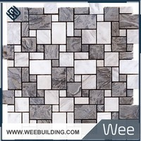 marble tile with mexico natural stone marble mosaic match fit