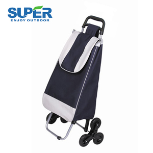 High Quality Strong PP Plastic Components Folding Shopping Cart Trolley Bag