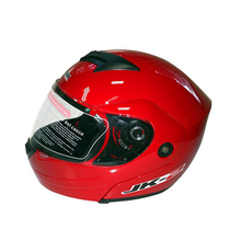 Red Color Jiekai Full Face Double Lens Motorcycle Helmet with Good Price