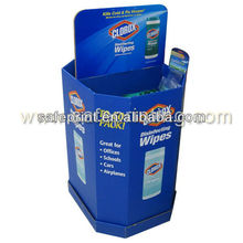 pallet display clorox disinfecting wipes for retail corrugated paper retail dump bins