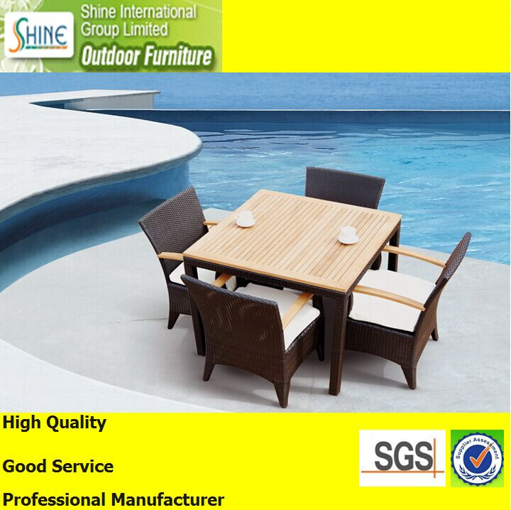 Outdoor Furniture Teak Wood Table Top Dining Set Dining