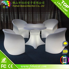 Used home bar furniture square luxury bar table, wedding led light bar table, bar table led light furniture