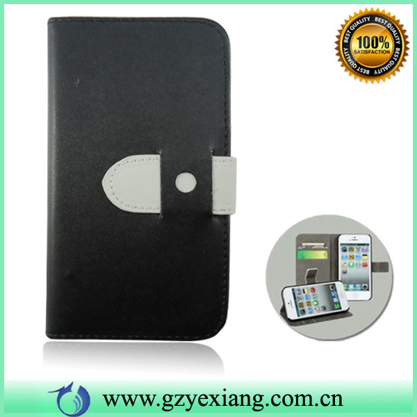 Fancy Leather Cell Phone Flip Case For Blackberry Z10 Wallet Case