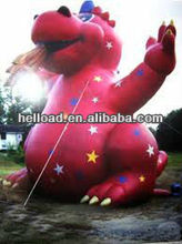 Inflatable dragon red
