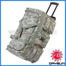 Mens Camo Trolley Duffle Bag, Large Rolling Luggage Carry On Suitcase