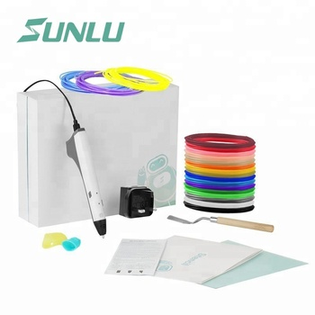 SUNLU 3d printer pen kit for kids with 20 filaments for deluxe birthday presents