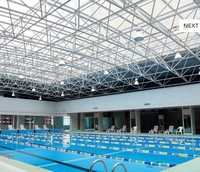 swimming pool roof transparent polycarbonate plastic roofing panel