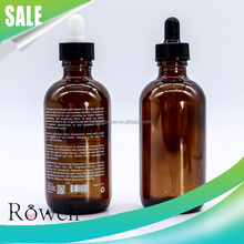 coconut oil packaging 30ml 1oz amber glass esse oil bottle with printed logo and dropper