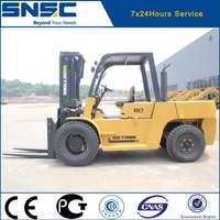 8 ton Container forklift with fork positioner and side shifter