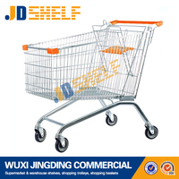 wholesale European style metal supermarket shopping trolley cart