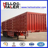 3 axle semi trailer cargo van trailer hot sale
