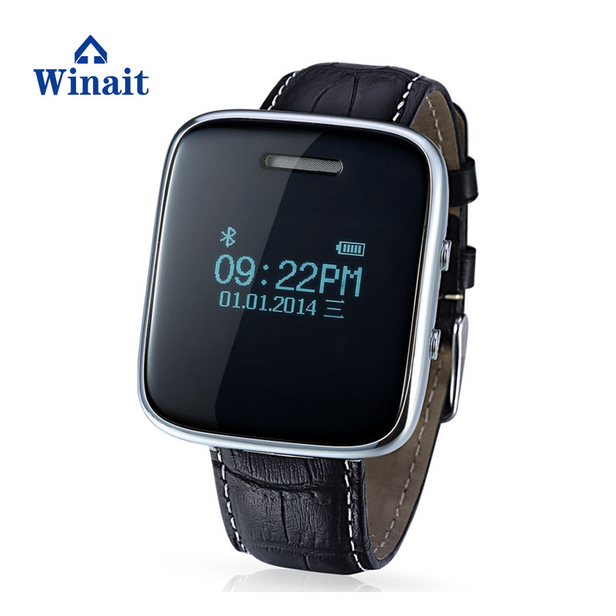 smart phone watch stereo bluetooth 3.0 answer call music player leather wrist band smart watch