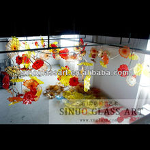 Unique Design Luxurious Chihuly Style Murano Glass Chandelier For Home Villa Hotel Decoration Lighting