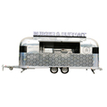big wheels Catering Food Trailer/stainless steel mobile food cart with wheels/street food booth