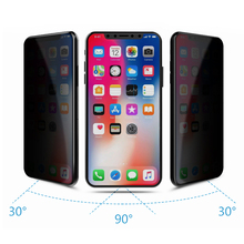Wholesale 9h mobile phone privacy 5d tempered glass screen protector for iphone x