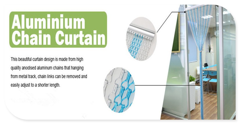 Aluminum chain fly screens, door fly screen curtain