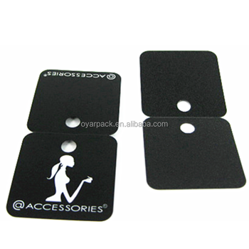 product hang tag foldable black paper tag with white printing