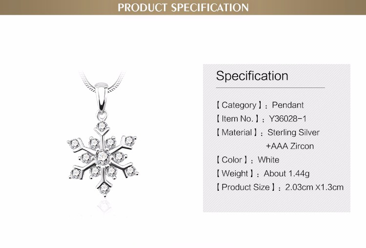 Best selling style 18k rhodium plated silver pendant necklace