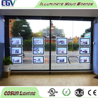 Magnetic LED Photo Frame crystal led light panel for window display