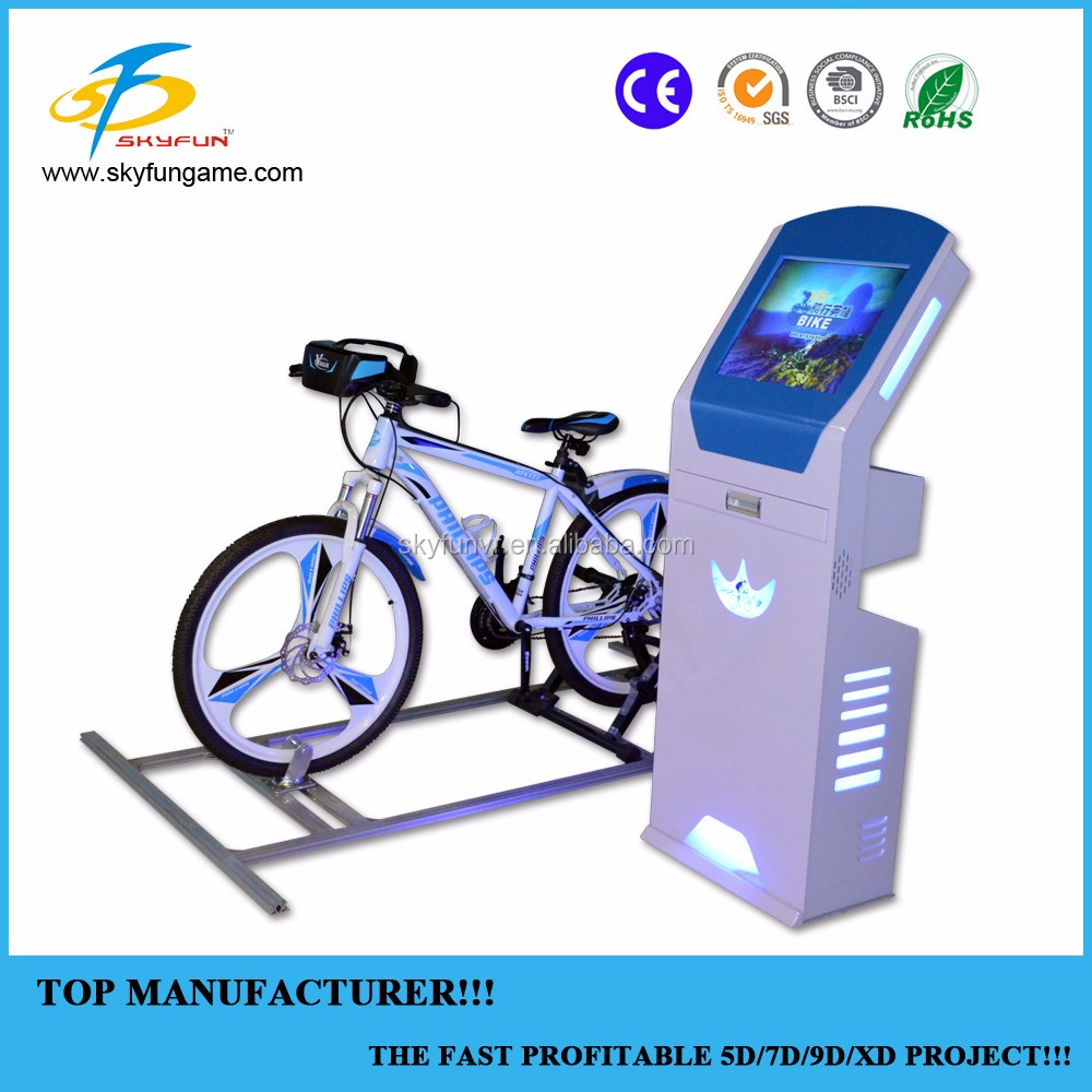Hot selling vr platform equipment motional vr bike games Fitness Bicycle VR