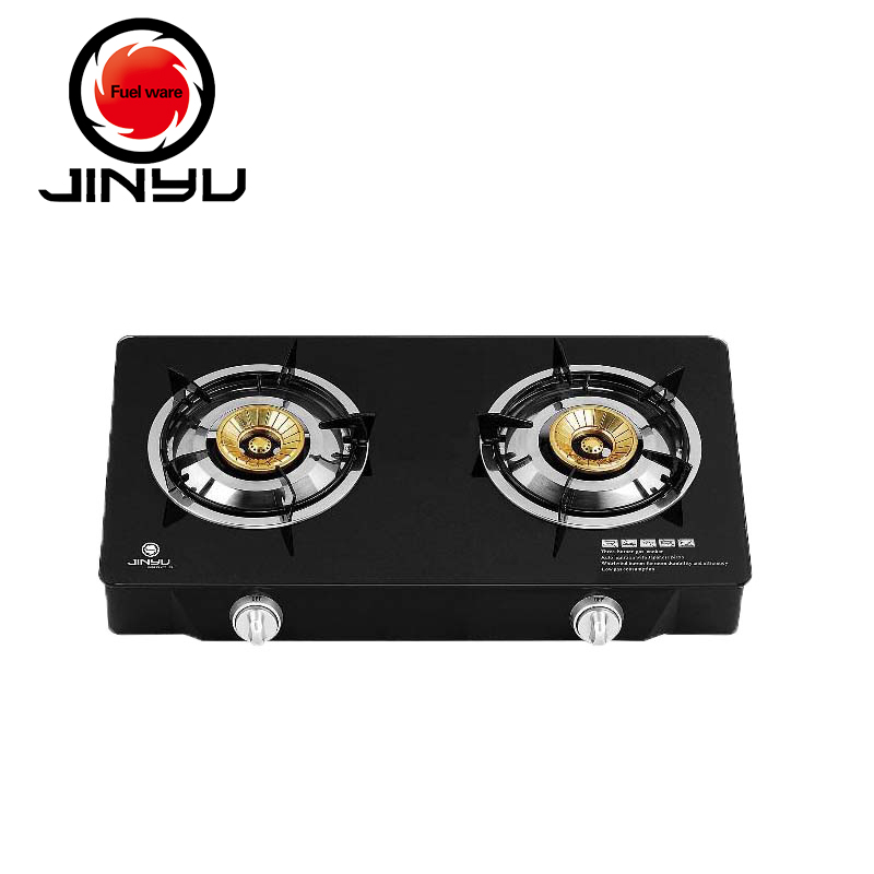 sales hot 2 burner black tempered glass gas cooker stove prices