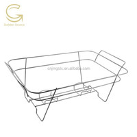 serve rite full size wire stand chafing rack