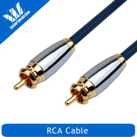 High quality soft rca to rca cable, tv audio video cable with metal plug
