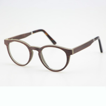 The latest Italy design colorful and fashion wood veneer acetate eye frame optical