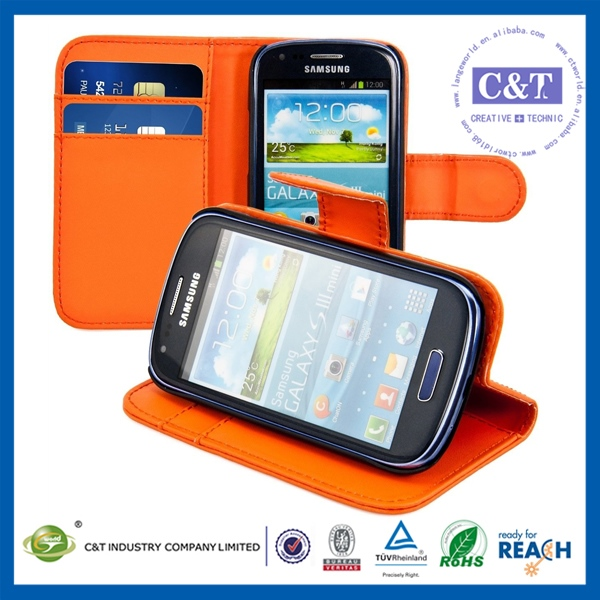 C&T Sublimation phone case wallet case for samsung galaxy s3 mini