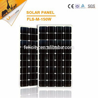 150w monocrystalline solar panel, 150W High Quality Solar Panel Price from China