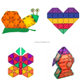 Wisdom magnetic tiles toys glass color magnetic tiles with magnets