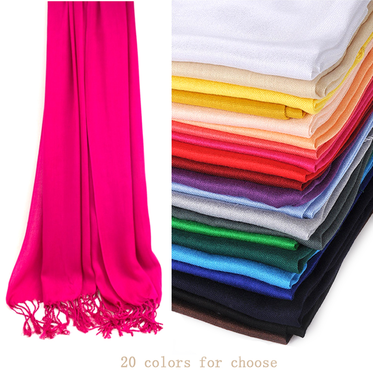 2017--120g 100% Viscose/Rayon Plain Solid Color Light Weight Pashmina Scarf/Shawl