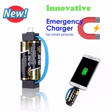 2017 New AA battery Emergency Chargers For Smart Phones, For Samsung S7 Emergency Chargers