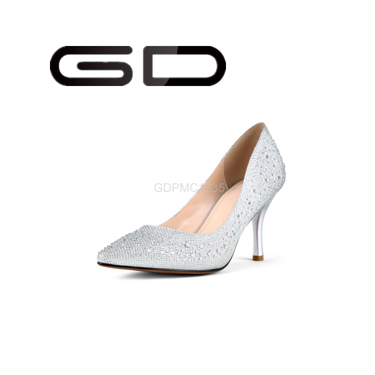 Wedding Shoes Bridal Rhinestone Crystal Pearl Beautiful Pumps White Evening Fashion Sexy