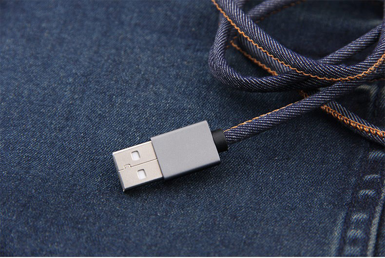 2.1A Data Fast Charging Cables USB Charger Cable Jean Cloth 8pin USB cable for iPhone X/8/7 6 6 Plus 5 s s 5 iPadmini
