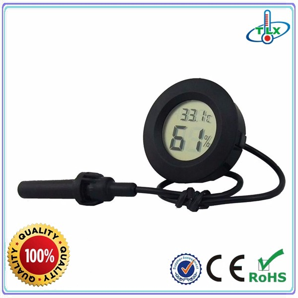 TL8048 Digital reptile use thermometer hygrometer, reptile thermometer with probe, thermo-hygrometer for pet