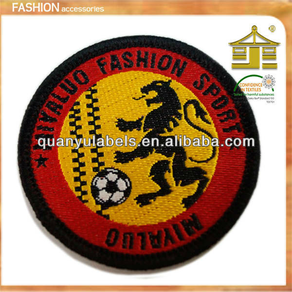 Self-adhesive fabric cheap dragon custom wholesale football vintage embroidered patch