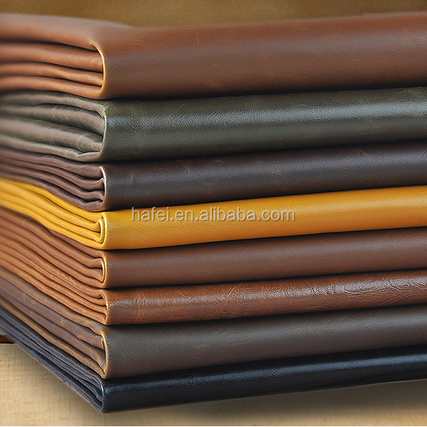 Suede Leather Upholstery Fabric For Sofa ,Bag Pu Leather Material Price Per Meter