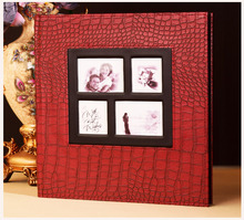 newest color customized best design windowed wedding photo album