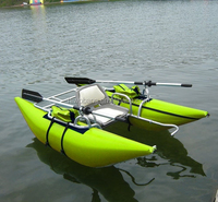One Person Inflatable Fishing Pontoon Boat
